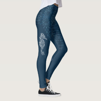 tribal_seahorse_with_whale_shark_pattern_leggings
